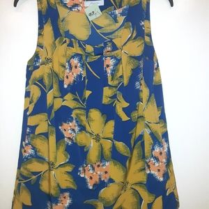 JH Collectibles sleeveless flower blouse size s
